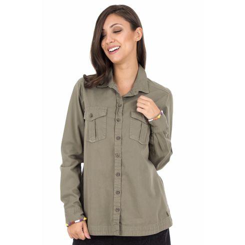 Camisa-Sarja---Verde-Militar