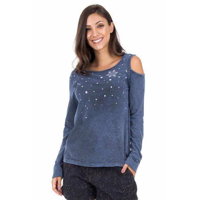 Camiseta-Manga-Longa-Floco---Azul