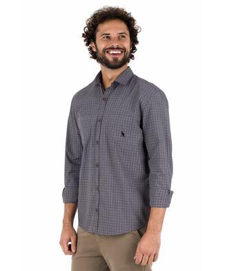 Camisa-Mini-Xadrez---Cinza-Chumbo