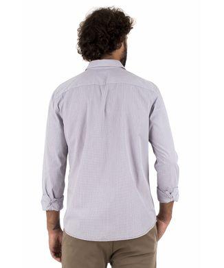 Camisa Button Listra - Cinza Claro