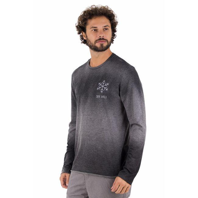 Camiseta-Snowflake---Cinza-Chumbo