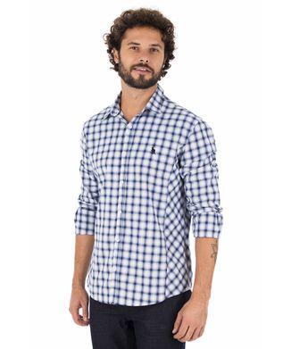 Camisa-Xadrez-Recorte---Azul-Marinho
