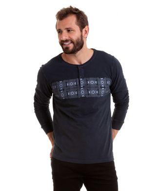Camiseta-Manga-Longa-Geometrico---Cinza-Escuro