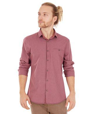 Camisa-Xadrez-Bolso---Bordo