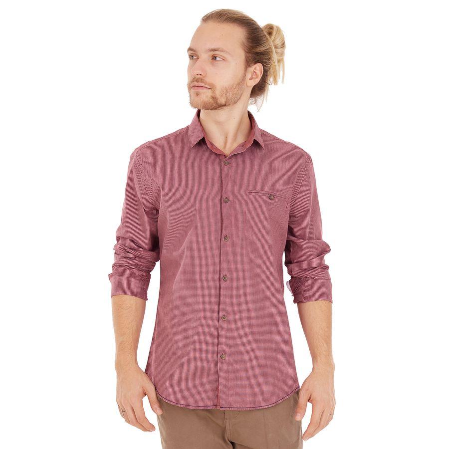 Camisa Xadrez Bolso - Bordo - sidewalk 33464bfdfb79d