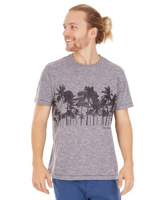Camiseta Coqueiros Surfing - Cinza Mescla