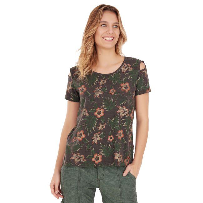 Camiseta-Floral---Cinza-Chumbo
