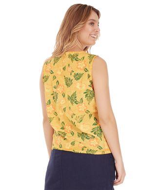 Regata-Floral---Amarelo