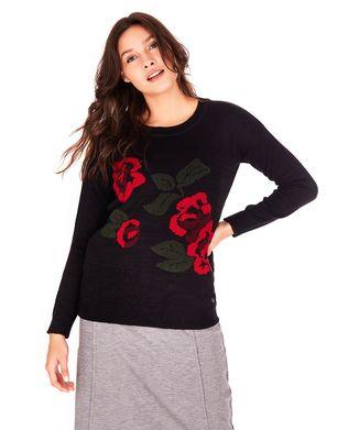 Blusa-Tricot-Rosas---Preto