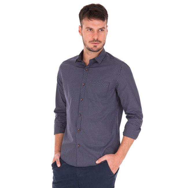 Camisa-Vichy-Fio-50---Azul-Marinho