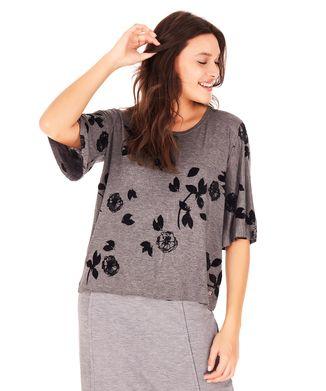 Camiseta-Flores---Cinza-Mescla