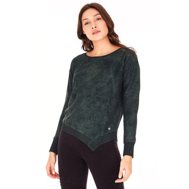Camiseta-Manga-Longa-Bico---Verde-Folha