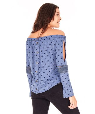 Camiseta-Manga-Longa-Ombro-A-Ombro---Azul-Marinho
