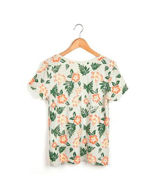 Camiseta-Floral---Areia---Tamanho-M