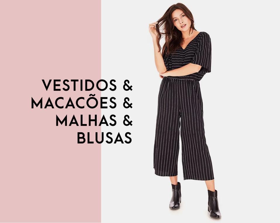 FEM   Blusas, vestidos, malhas e macacões