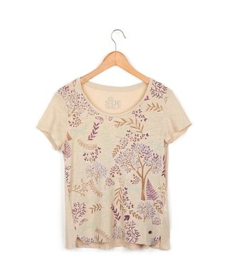 Camiseta-Floresta---Areia---Tamanho-P