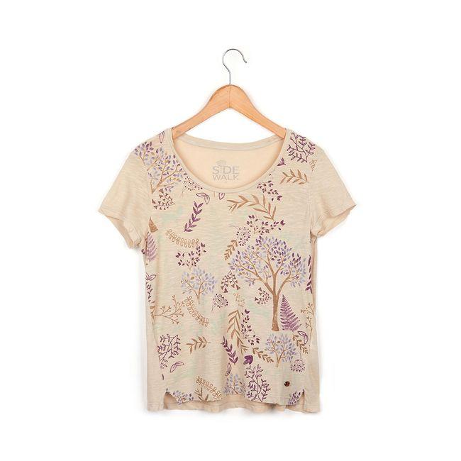 Camiseta-Floresta---Areia---Tamanho-G