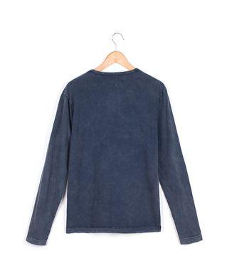 Camiseta-Manga-Longa-Marmorizada---Azul-Marinho---Tamanho-P