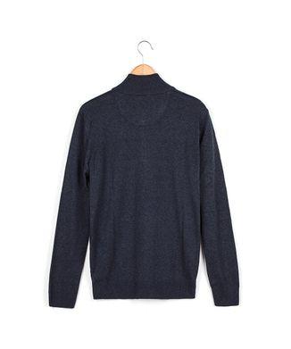Blusa-Tricot-Ziper-Xd---Azul-Jeans---Tamanho-P