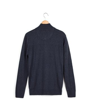 Blusa-Tricot-Ziper-Xd---Azul-Jeans---Tamanho-M