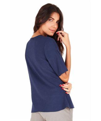 Camisa-Manga-Curta-Transpasse---Azul-Marinho---Tamanho-P