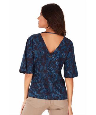Camisa-Manga-Curta-Folhagem---Azul-Medio---Tamanho-P