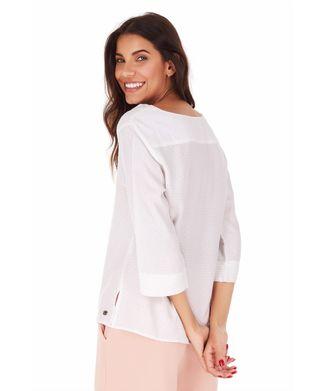 Camisa-Manga-3-4-Mel---Off-White---Tamanho-P