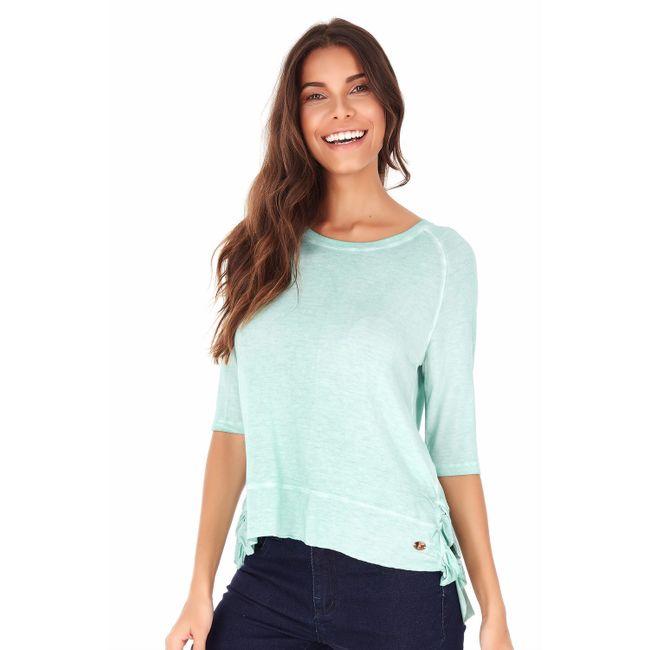 Camiseta-Babado-Lateral---Verde-Pistache---Tamanho-P