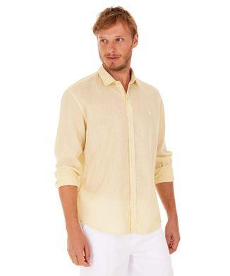 Camisa-Linho---Amarelo---Tamanho-P