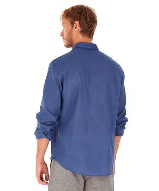 Camisa-Linho---Azul-Marinho---Tamanho-G
