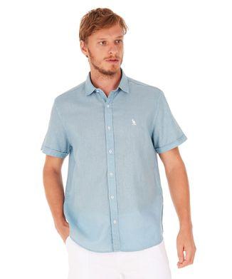Camisa-Linho---Azul-Claro---Tamanho-P