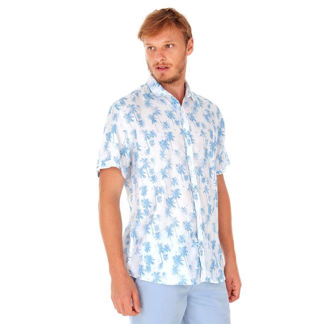 Camisa-Manga-Curta-Coqueiros---Azul-Claro---Tamanho-P