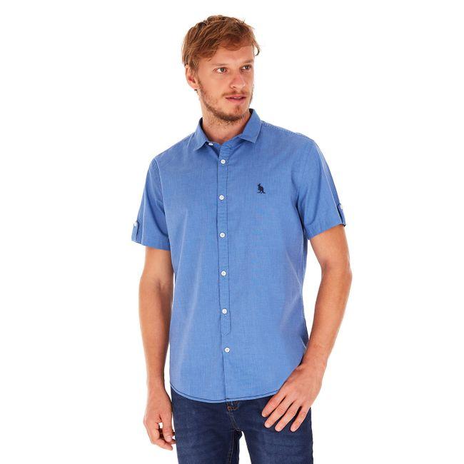 Camisa-Manga-Curta-Rafa---Azul-Medio---Tamanho-P
