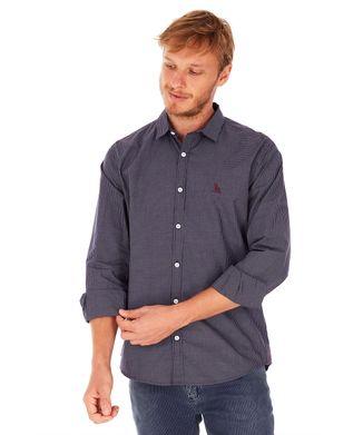Camisa-Vichy---Azul-Marinho---Tamanho-P