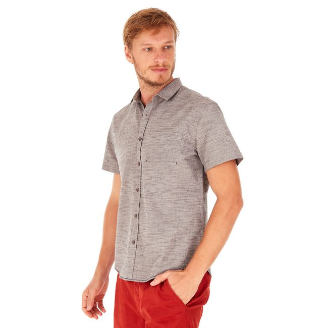 Camisa-Manga-Curta-Flame---Cinza-Medio---Tamanho-P