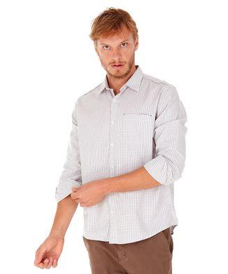 Camisa-Xadrez-Com-Bolso---Cinza-Medio---Tamanho-M