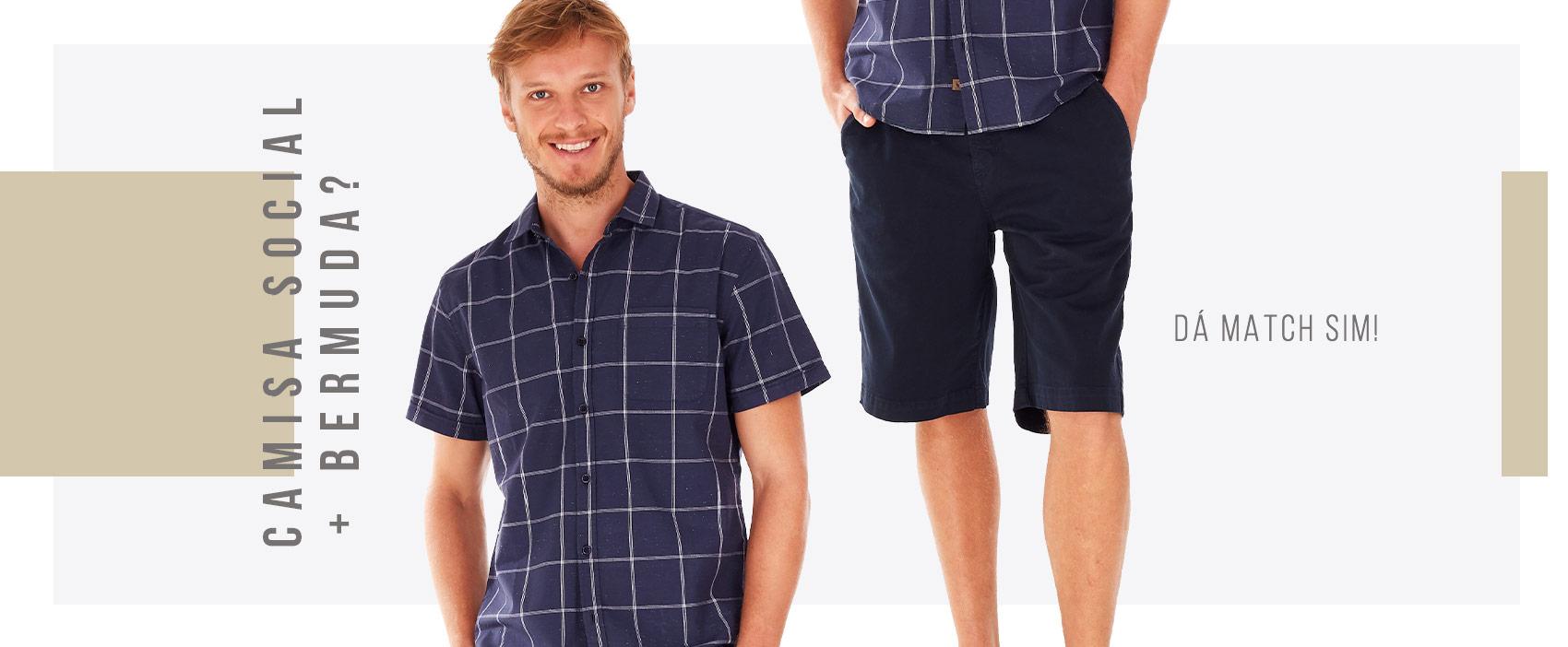 Camisa Social e Bermuda