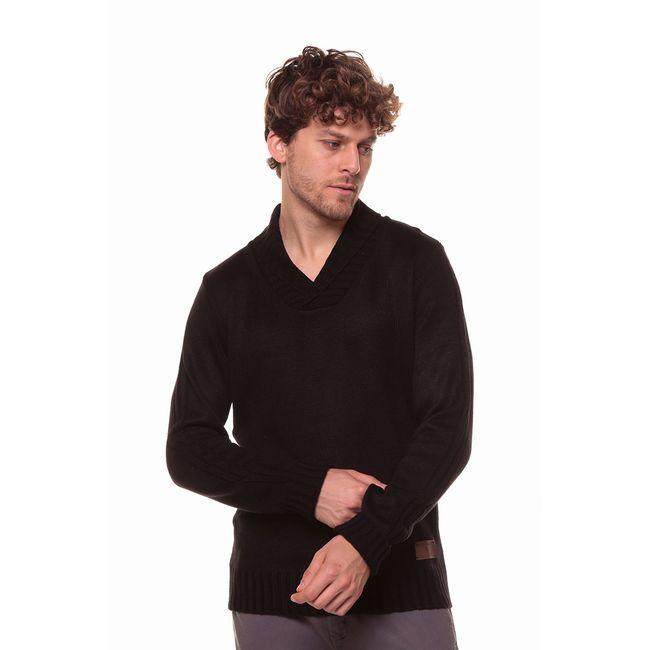 Blusa-Tricot-GeorGe---Preto---Tamanho-P