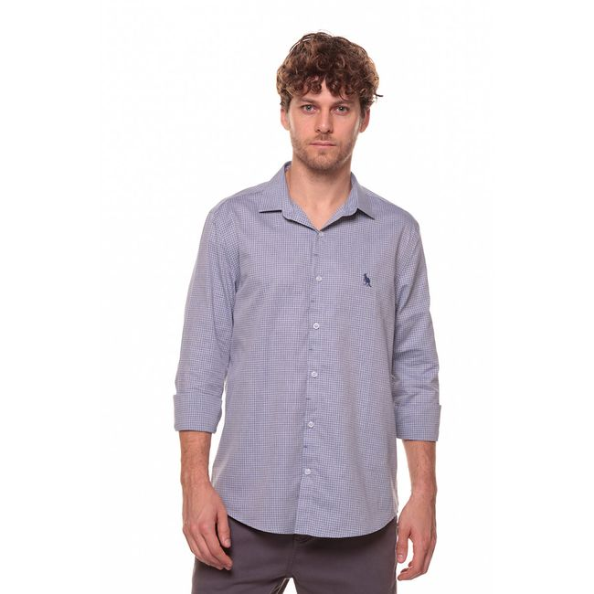 Camisa-Mini-Xadrez---Azul-Claro---Tamanho-P
