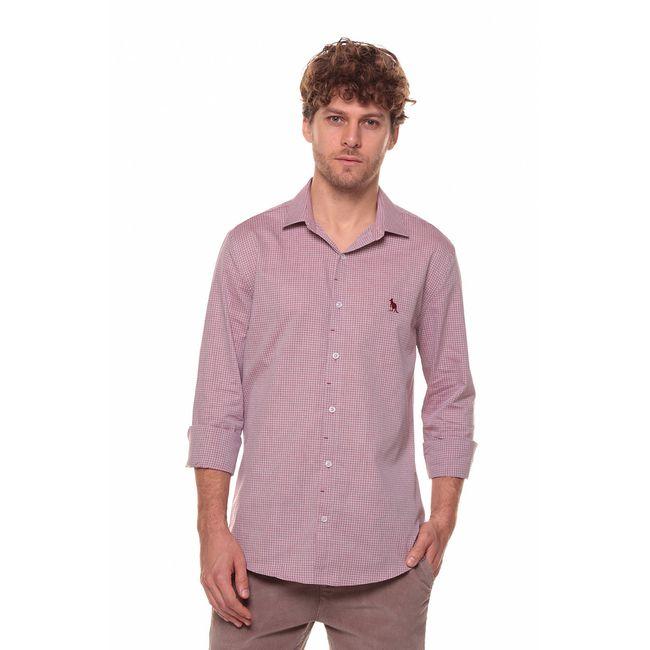 Camisa-Mini-Xadrez---Bordo---Tamanho-P