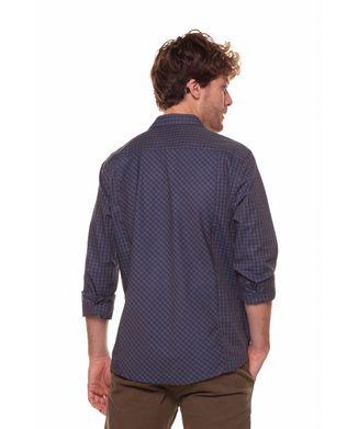 Camisa-Xadrez-Pequeno---Azul-Marinho---Tamanho-P