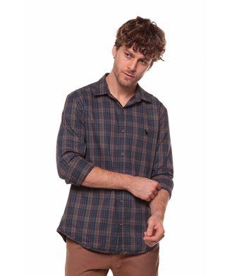 Camisa-Xadrez-Misto---Azul-Marinho---Tamanho-P
