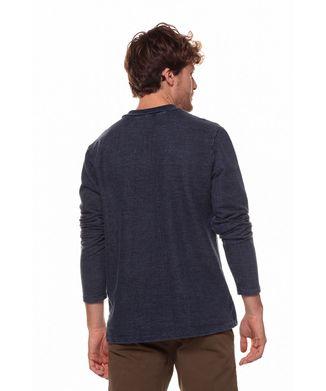 Camiseta-Manga-Longa-Ziper---Azul-Indigo---Tamanho-P