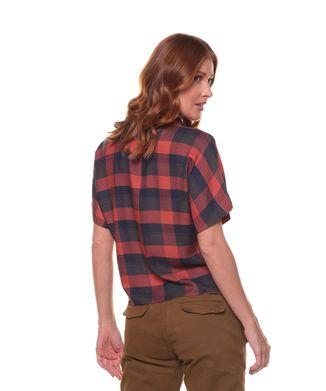 Camisa-Manga-Curta-Xadrez---Telha---Tamanho-M