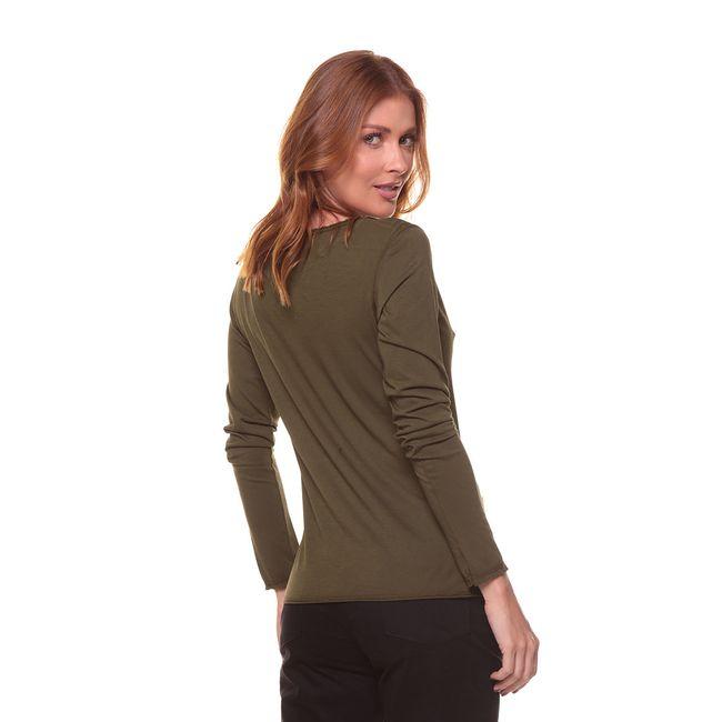 Camiseta-Manga-Longa-Arabe---Verde-Militar---Tamanho-P