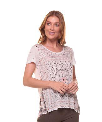 Camiseta-Mandala-Florida---Areia---Tamanho-P